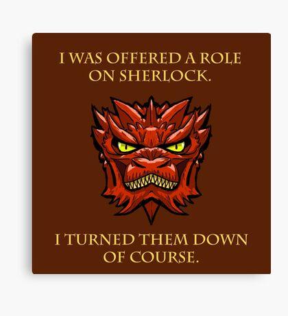 Smaug Quotes-Colbert Report- Sherlock Canvas Print