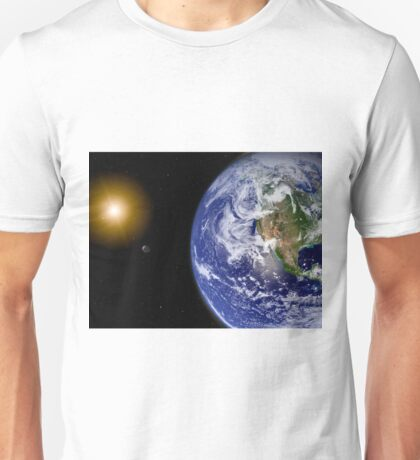 Digitally enhanced planet Earth. Unisex T-Shirt