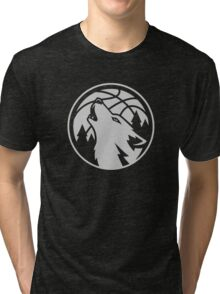 Minnesota timberwolves grey Tri-blend T-Shirt