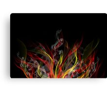 Smoke background Canvas Print