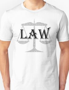 Law Text Unisex T-Shirt