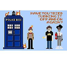 Doctor Who Calls IT Crowd  Photographic Print