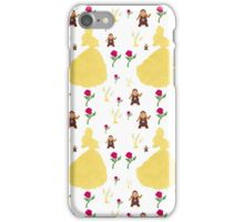 Beauty & The Beast Pattern iPhone Case/Skin