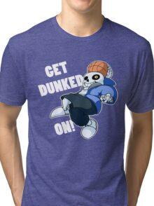 Sans - Undertale - GET DUNKED ON! Tri-blend T-Shirt