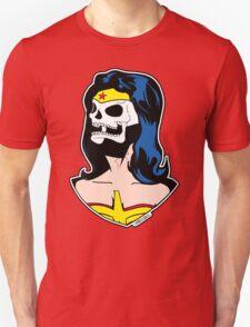 Wonder Woman Skull Pop Art Bust T-Shirt