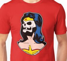 Wonder Woman Skull Pop Art Bust Unisex T-Shirt