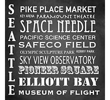 Seattle Famous Landmarks Photographic Print