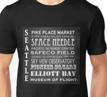 Seattle Famous Landmarks Unisex T-Shirt