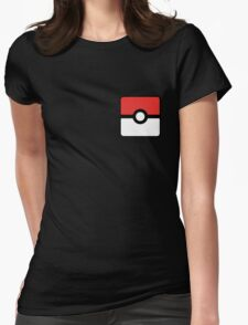 Pokeball square Womens Fitted T-Shirt