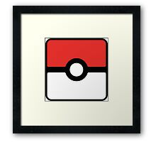 Pokeball square Framed Print