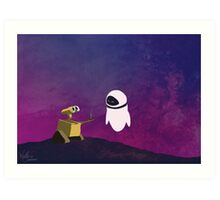 Wall-e minimal pop art design Art Print
