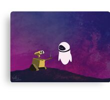 Wall-e minimal pop art design Canvas Print