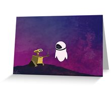 Wall-e minimal pop art design Greeting Card