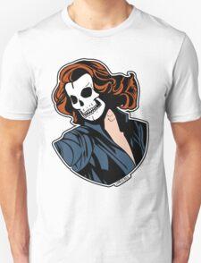 Black Widow Skull Pop Art Bust T-Shirt