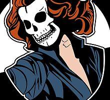 Black Widow Skull Pop Art Bust by zombieCraig