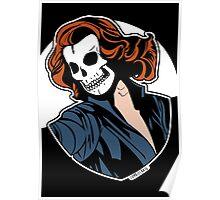 Black Widow Skull Pop Art Bust Poster