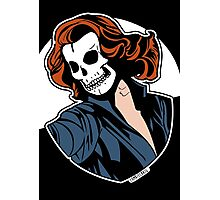 Black Widow Skull Pop Art Bust Photographic Print