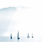 Sailing Boats and the Alps...........Lake Geneva by Imi Koetz
