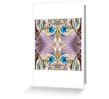 Her Clean Glass Corset Greeting Card