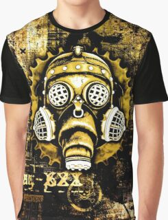 Steampunk / Cyberpunk Gas Mask Graphic T-Shirt