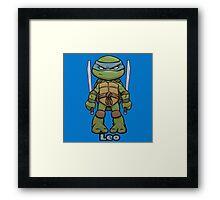 """Leo """"TMNT"""" Framed Print"""