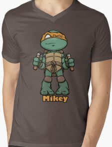 "mikey ""TMNT"" Mens V-Neck T-Shirt"