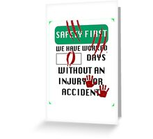 Safety First - Dinosaur Attack Greeting Card