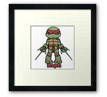 "Raph "" TMNT "" Framed Print"