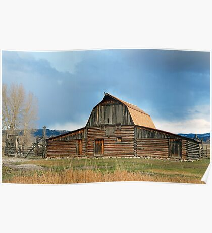 Historic Timber Barn Poster