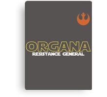 General Organa Soccer/Football Shirt Canvas Print