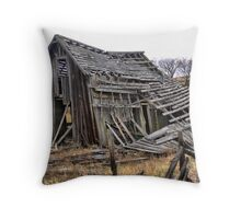 Collapsing in a Close-Up Throw Pillow