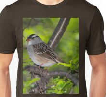 White-Crowned Sparrow Unisex T-Shirt