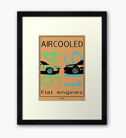 aircooled flat engine colored 2 Framed Print