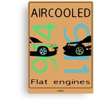 aircooled flat engine colored 2 Canvas Print