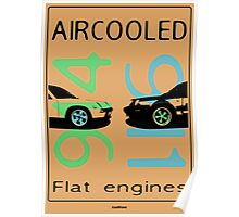aircooled flat engine colored 2 Poster