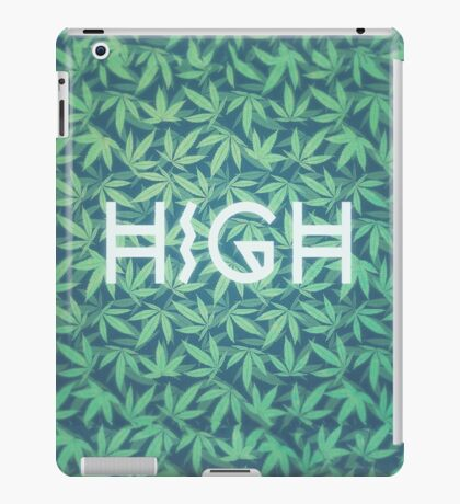 HIGH TYPO! Cannabis / Hemp / 420 / Marijuana  - Pattern iPad Case/Skin