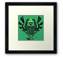 Zelda Mash-up Framed Print