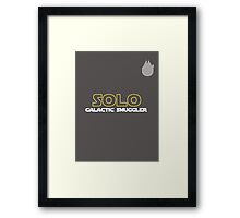 Han Solo Soccer/Football Shirt Framed Print