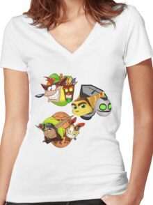 Someone asked for a duet?  Women's Fitted V-Neck T-Shirt