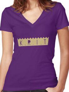 Big K.R.I.T Crown Women's Fitted V-Neck T-Shirt