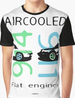 aircooled flat engines colored 4 Graphic T-Shirt