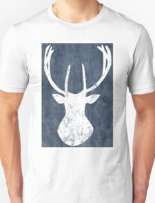 Lapland Madness Blue Deer 1 B/W T-Shirt