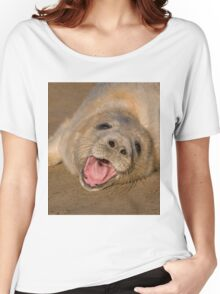 Seal Pup On The Beach At Donna Nook Women's Relaxed Fit T-Shirt