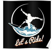 Surfer Print Design Poster