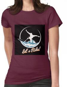 Surfer Print Design Womens Fitted T-Shirt