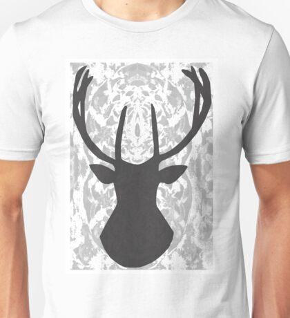 Lapland Madness  Pattern Deer B/W Unisex T-Shirt