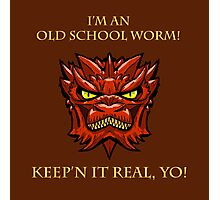 Smaug Quotes-Colbert Report- old school worm Photographic Print