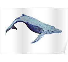 The lonely blue whale Poster