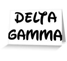 Delta Gamma - Disney Greeting Card