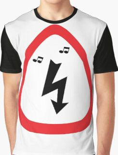 Guitar Pick / Plectrum: Traffic sign high voltage Graphic T-Shirt